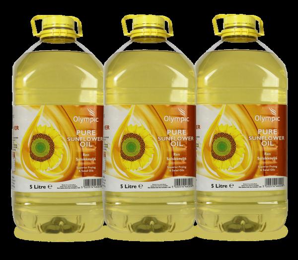 Olympic Sunflower Oil 3x5L